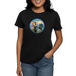 St Francis/3 dogs Women's Dark T-Shirt