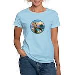 St Francis/3 dogs Women's Light T-Shirt