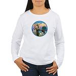 St Francis/3 dogs Women's Long Sleeve T-Shirt