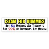 """Islam For Dummies!"" Bumper Car Sticker"