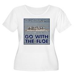 Go With the Floe Women's Plus Size Scoop Neck T-Sh
