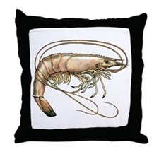 Southern Shrimp Logo Throw Pillow