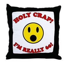 Holy Crap 60th Birthday Throw Pillow