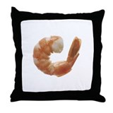 Steamed Shrimp Throw Pillow
