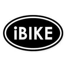 I Bike (Black) Oval Decal