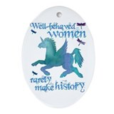 Well-behaved Unicorn Oval Ornament
