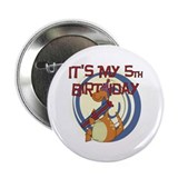 "Dinosaur 5th Birthday 2.25"" Button"