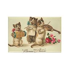 Cat Musicians Vintage Art Rectangle Magnet