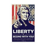 Jefferson Liberty Rectangle Decal