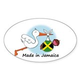 Stork Baby Jamaica Oval Decal