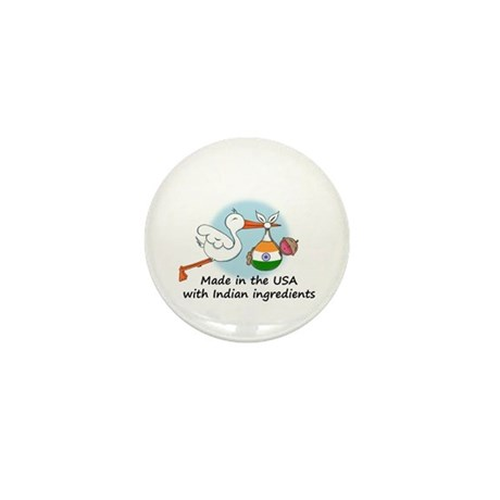 Stork Baby India USA Mini Button
