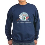 Stork Baby Mexico USA Sweatshirt