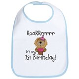 Lion 1st Birthday Bib