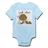 African American Boy 1st Birthday Infant Bodysuit