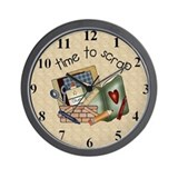 Cute Scrapbook Wall Clock