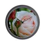 Rose Bud Wall Clock