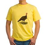 Chocolate Tom Turkey Yellow T-Shirt