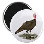 "Chocolate Tom Turkey 2.25"" Magnet (100 pack)"