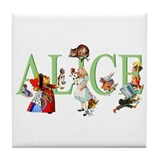 ALICE AND FRIENDS Tile Coaster