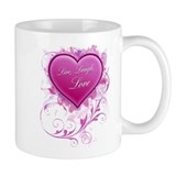 Live, Laugh Love Floral Grung Small Mug