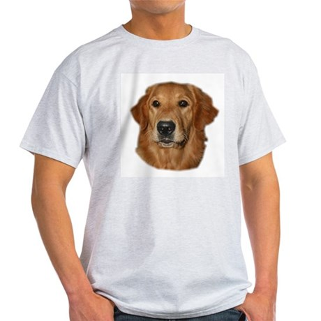 Head Study Golden Retriever Ash Grey T-Shirt