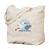 Stork Baby Greece Tote Bag