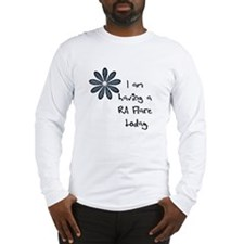 Flower : I am having a RA flare Long Sleeve T-Shir