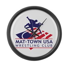 Mat-Town Flag Logo Large Wall Clock