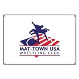 Mat-Town Flag Logo Banner