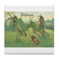 Grasshoppers & Insects German Art Tile Coaster