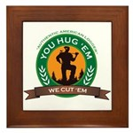 You Hug 'Em - We Cut 'Em Framed Tile