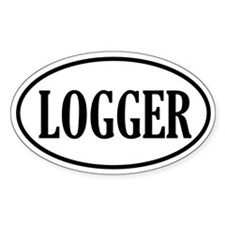 Logger Logging Oval Decal