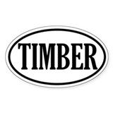 Timber Logging Oval Decal