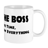 I am the Boss Small Mug