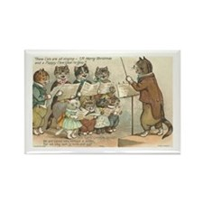 Cats Choral Society Vintage Art Rectangle Magnet