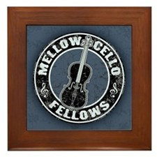 Mellow Cellos II Framed Tile