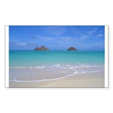 Lani Kai Beach, Oahu Rectangle Decal