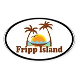 Fripp Island - Sun and Waves Design Decal