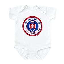 SK Slovakia/Slovensko Hockey Infant Bodysuit