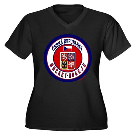 CZ Czech Rep Ice Hockey Women's Plus Size V-Neck D