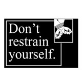 Don't Restrain Yourself Postcards (Package of 8)