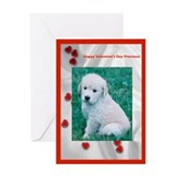 Puppy Valentine Greeting Card