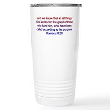 Romans 8:28 Ceramic Travel Mug