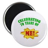 "Funny Attitude 70th Birthday 2.25"" Magnet (10 pack"