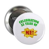 "Funny Attitude 55th Birthday 2.25"" Button"