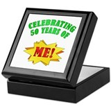 Funny Attitude 50th Birthday Keepsake Box