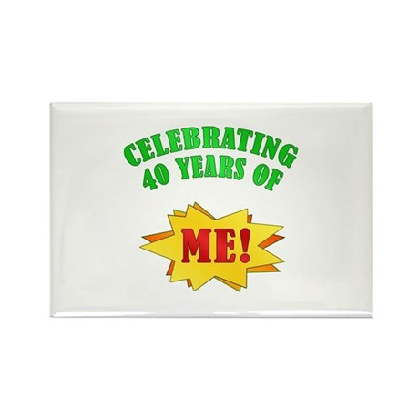 Funny Attitude 40th Birthday Rectangle Magnet