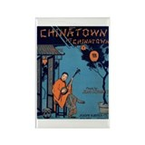 Chinatown Vintage Sheet Music Art Rectangle Magnet