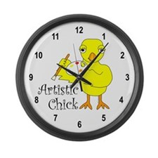Artistic Chick Large Wall Clock