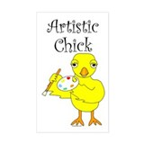 Artistic Chick Rectangle Decal